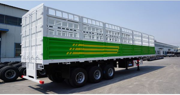 3 axle cargo transport stake semi trailer for sale in Sudan