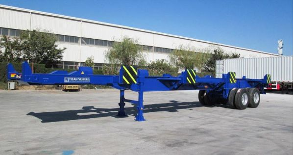 2 Axle 40ft Terminal Port Trailer for Sale in Madagascar