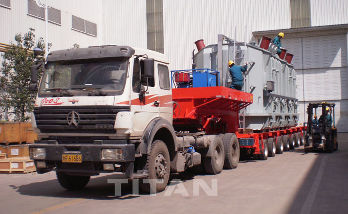 modular low bed semi trailer
