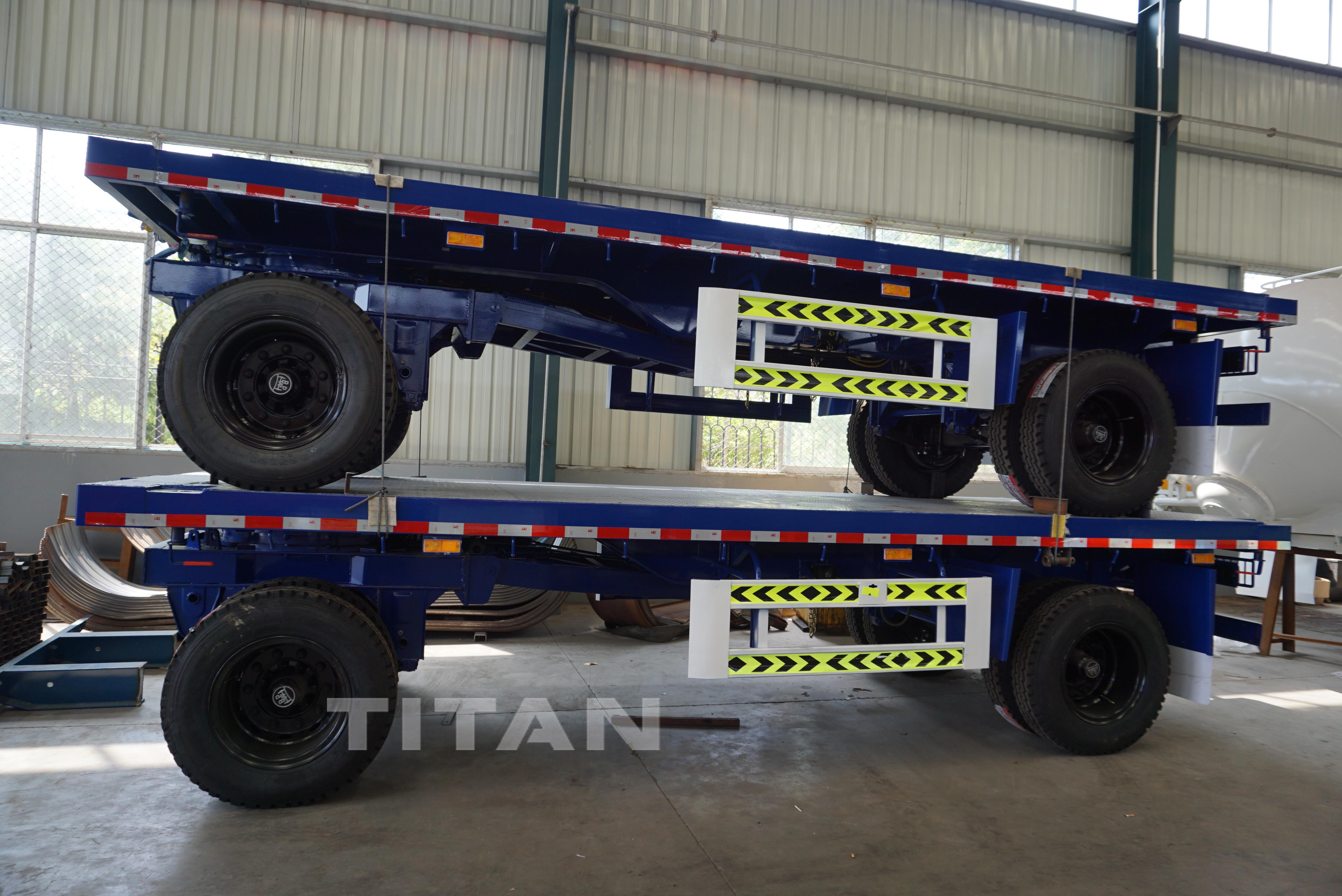 Drawbar Flatbed  trailers