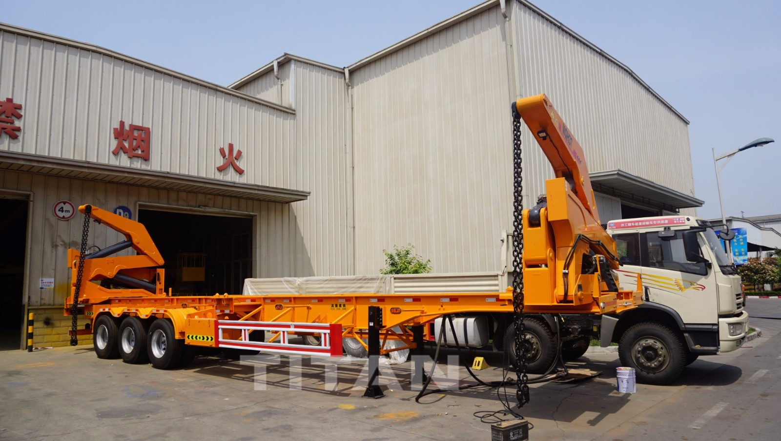 container lift trailer