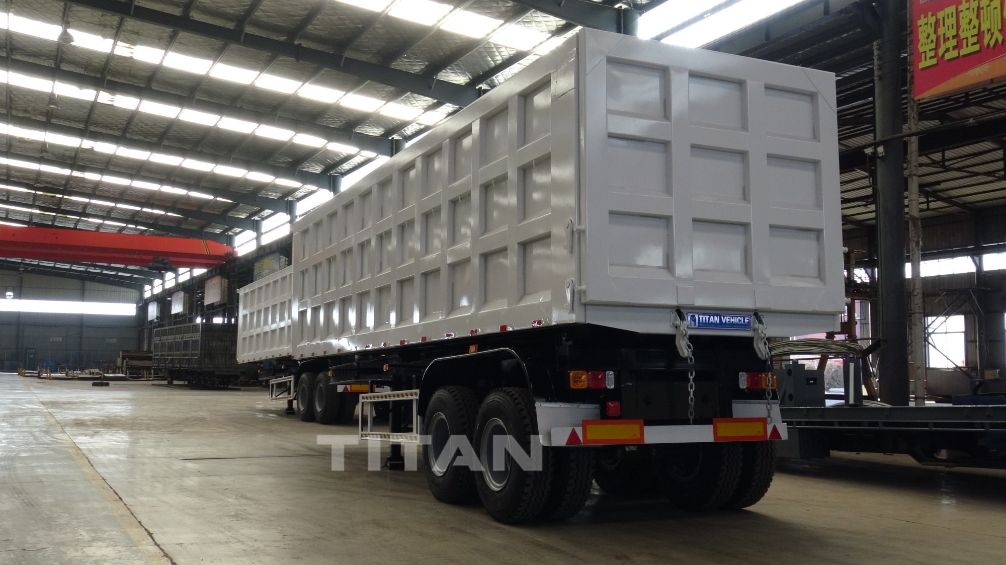 2 axle hydraulic tipper trailer