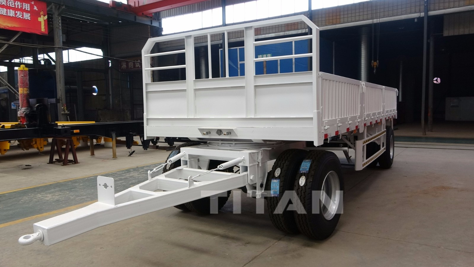 Drawbar sidewall semi trailer