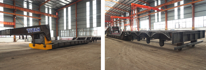 80 tons removable gooseneck RGN lowboy trailer factory