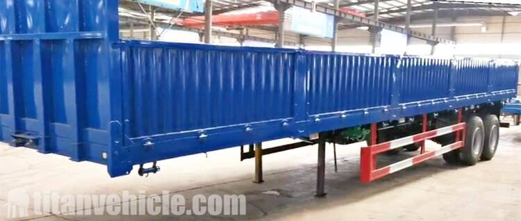 2 Axle Sidewall Semi Trailer for Sale Manufacturer