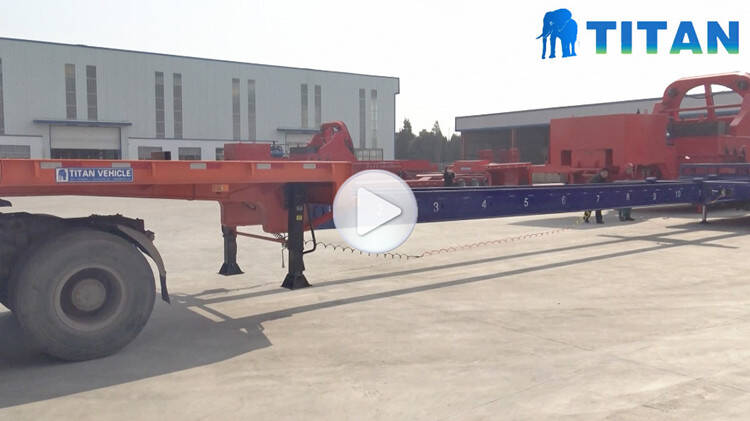 4 axle 56m extendable wind turbine blade transport trailer trailer testing