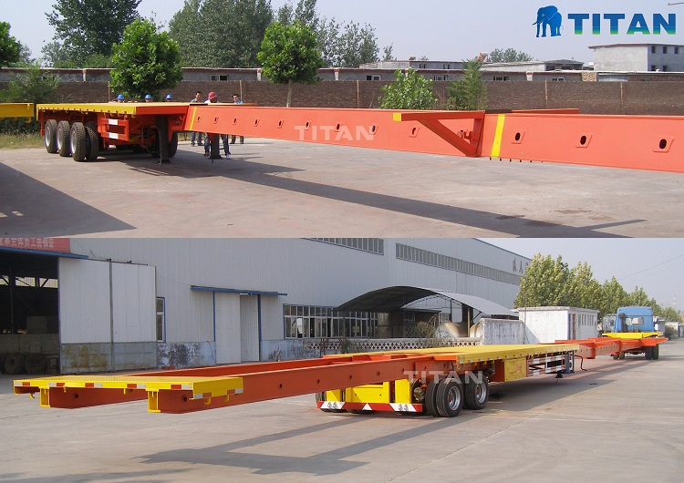 Telescopic specialized rgn extendable trailers for sale