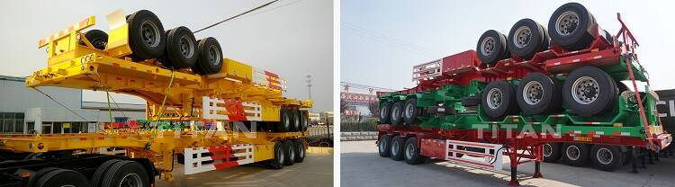 Shipment of container chassis semi trailer