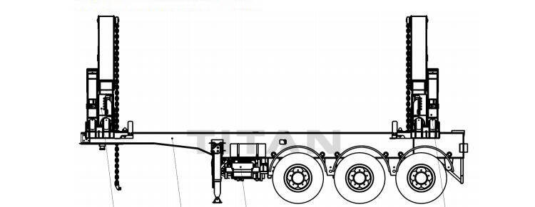 TITAN 20' container compact sidelifter technical department drawing