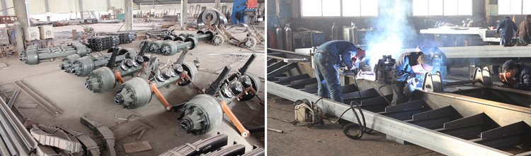 welding suspension of low loader truck