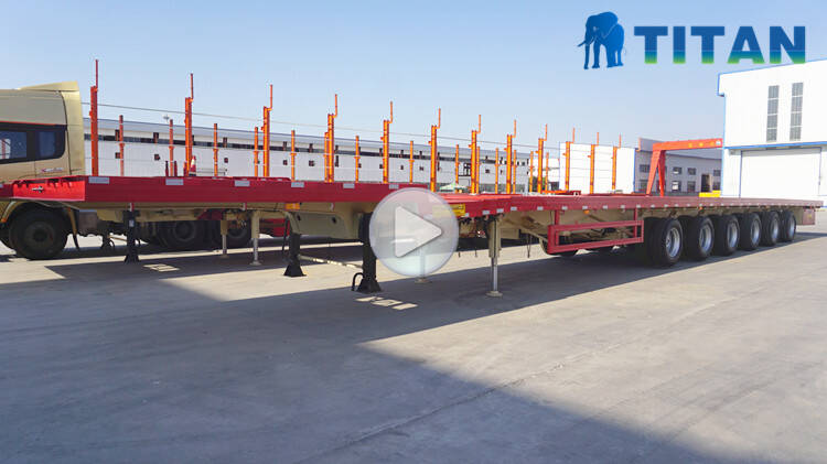 6 axle 62 meters telescopic trailer video display