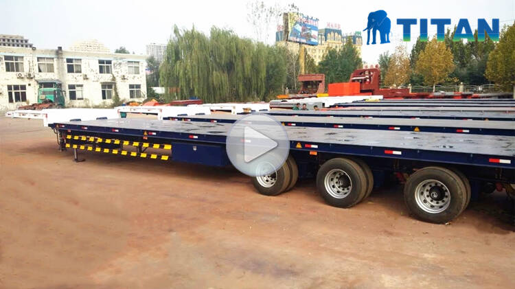 4 Axle 60m Blade Transportation Trailer Video