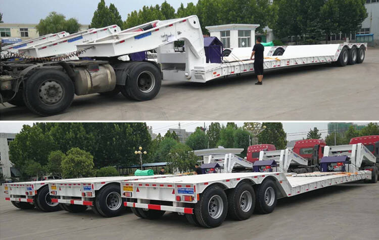 3 units 3 axle lowboy trailer ready to shipment