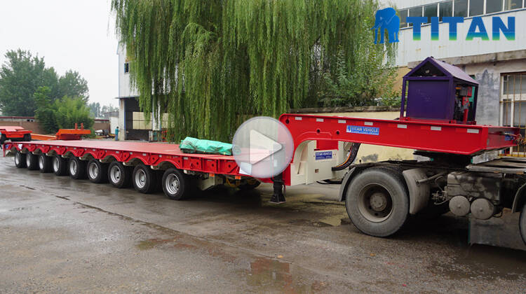 9 axle extendable trailer video