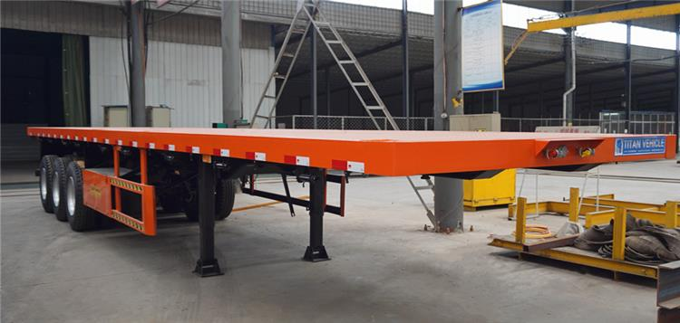 What is a Tri Axle Trailer? Triple Axle 40 ft Flatbed Semi Trailer for Sale in Nigeria
