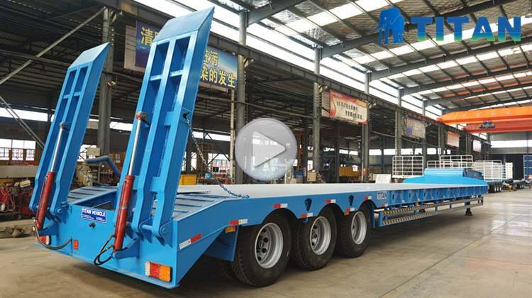 low bed trailer video