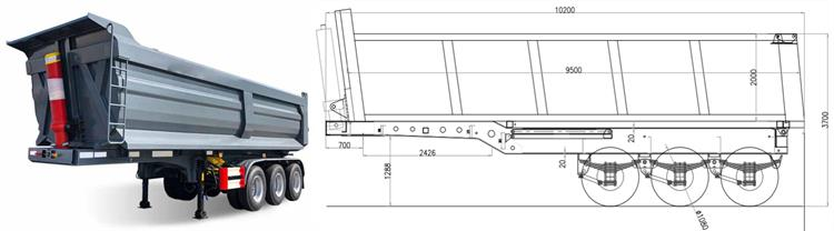 How Much is 3 Axle Tipper Semi Trailer for Sale Near Me