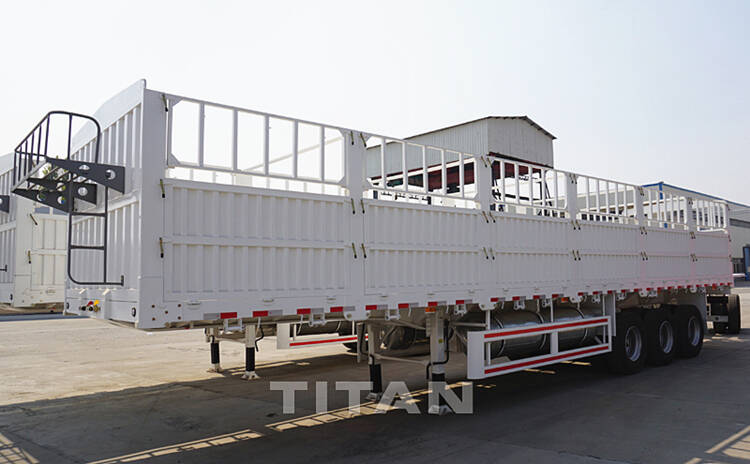 cargo flatbed semi trailer