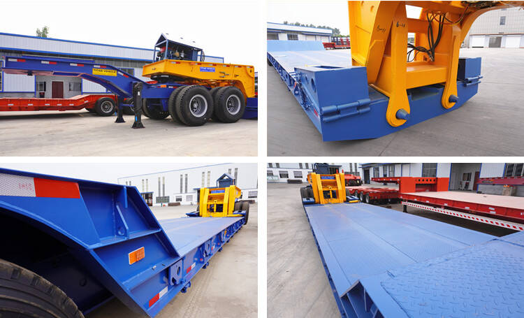 4 Axle 150 Ton Detachable Removable Gooseneck Lowboy with Dolly Trailer for Sale
