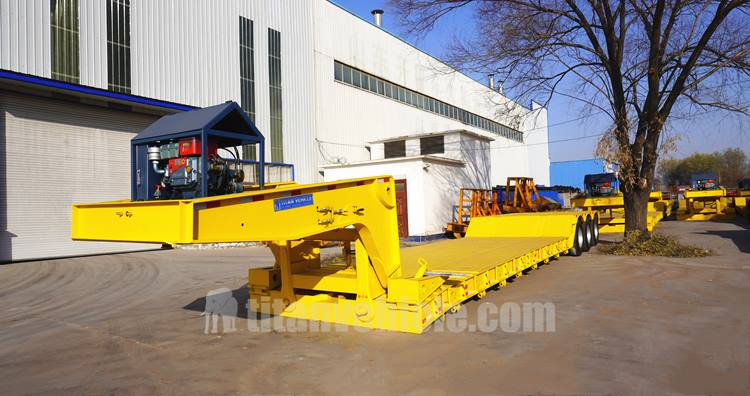 3 Axle 60 Ton Removable Gooseneck Trailer