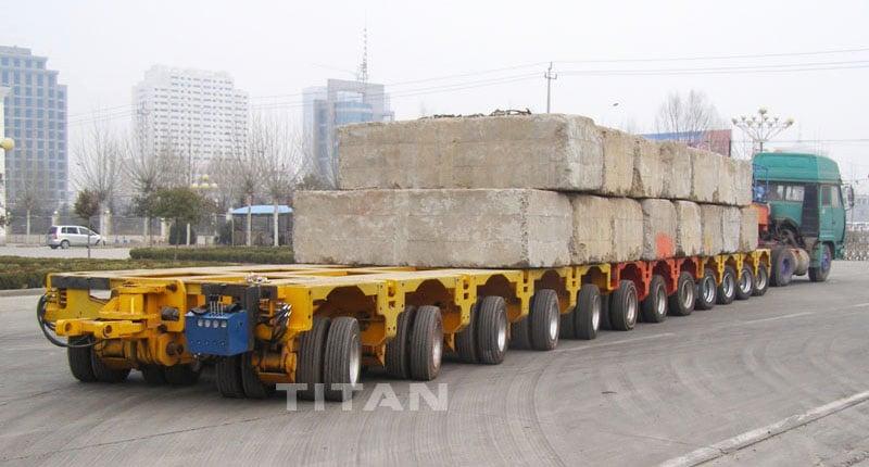Hydraulic Multi Axle Modular Trailer for Sale - 300 Ton Heavy Equipment Transport