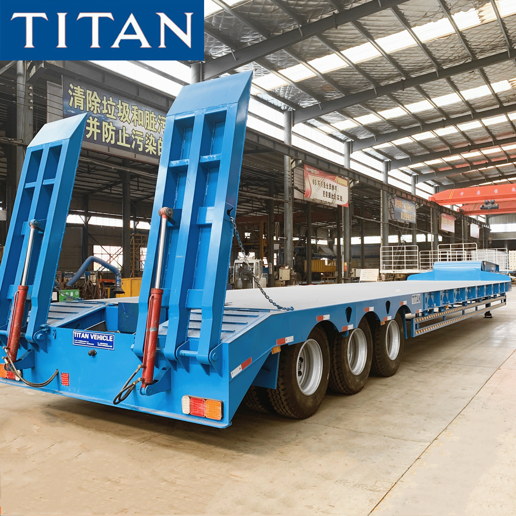 3 Axle Low Bed Semi Trailer