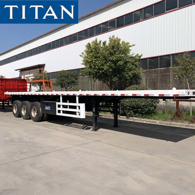 3 Axle Flatbed Truck Trailer