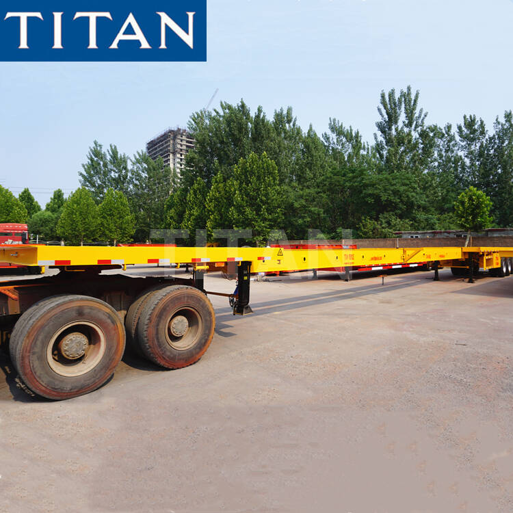 3 Axles Extendable Flatbed Trailer