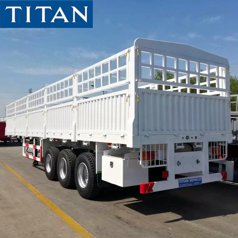 3 Axle Fence Trailer with Stake