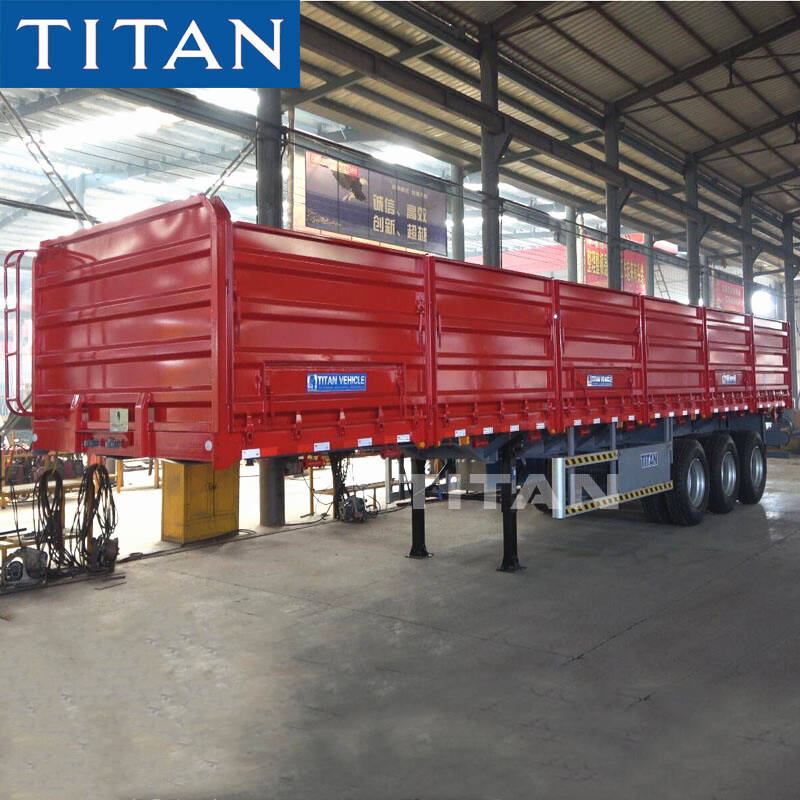 Grain Trailer with Drop Side
