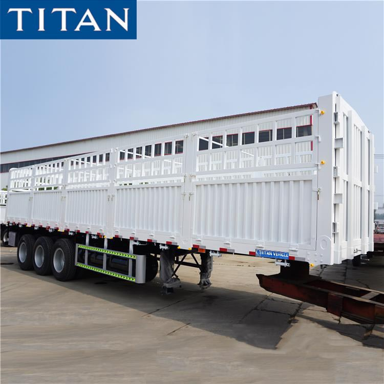 60 Tons Fence Semi Trailer in Sudan