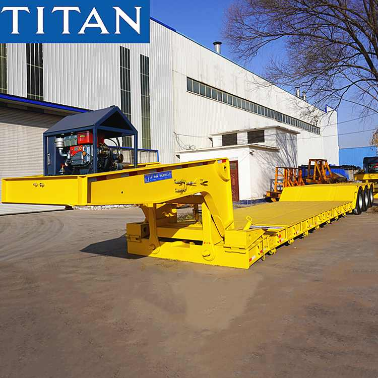 Tri Axle 60 Ton Removable Gooseneck Trailer for Sale