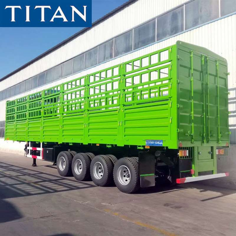 China 4 Axle Stake Semi Trailer
