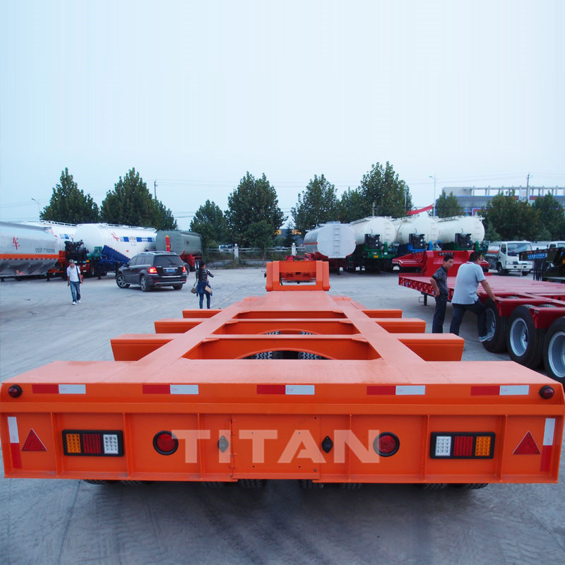 120T-150T Detachable Gooseneck Lowbed Trailer