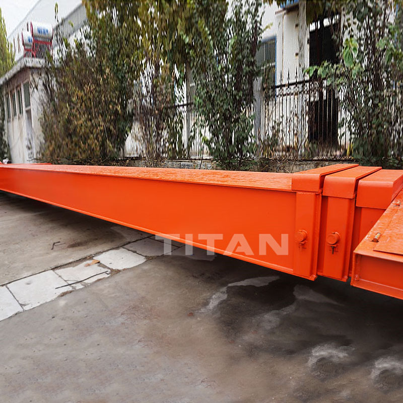 TITAN Extendible Extendable Semi Trailer for Carrying Wind Blade