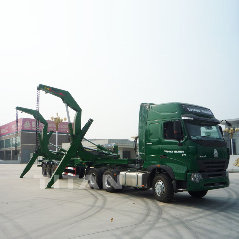 Side Self Loading 40ft Container Trailer for Loading Container