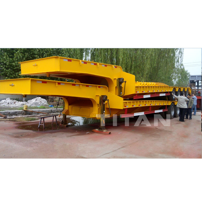 150 Ton 4 line 8 axles Lowbed Trailer | TITAN