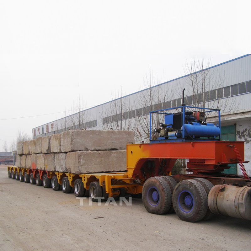 300 ton 400 tons payload modular low bed semi trailer for transport transformer