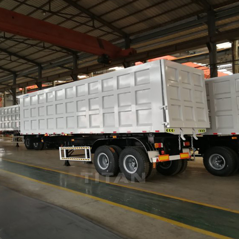 Tipping semi trailers 2 axles