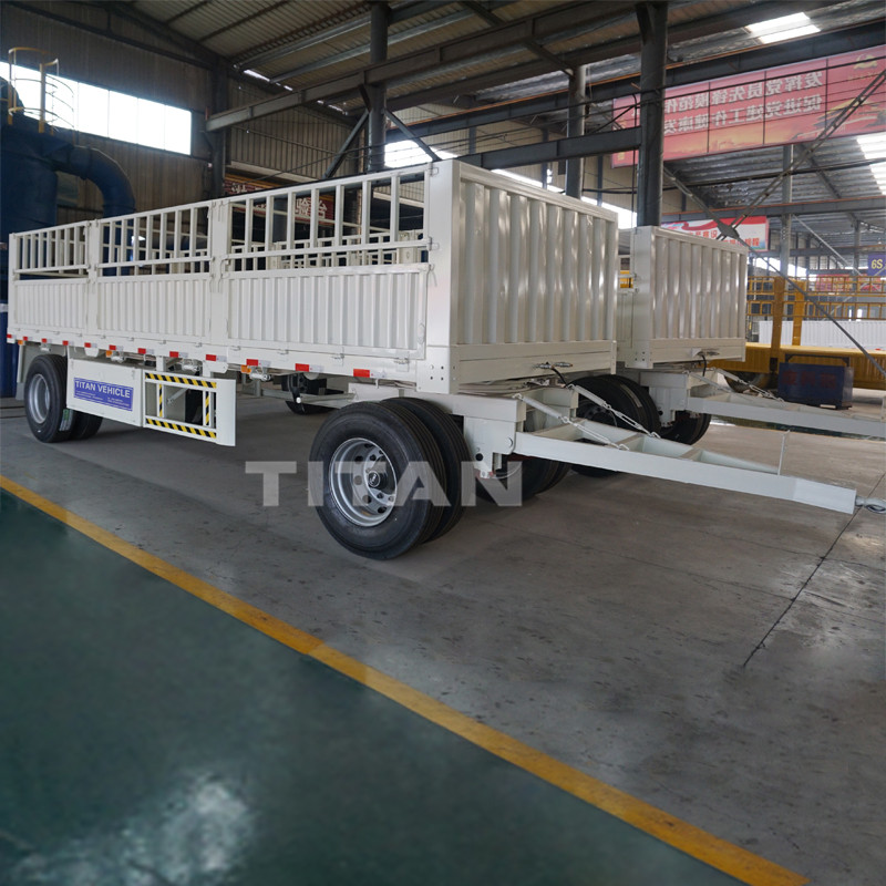 TITAN  drawbar trailer with 30 ton loading capacity
