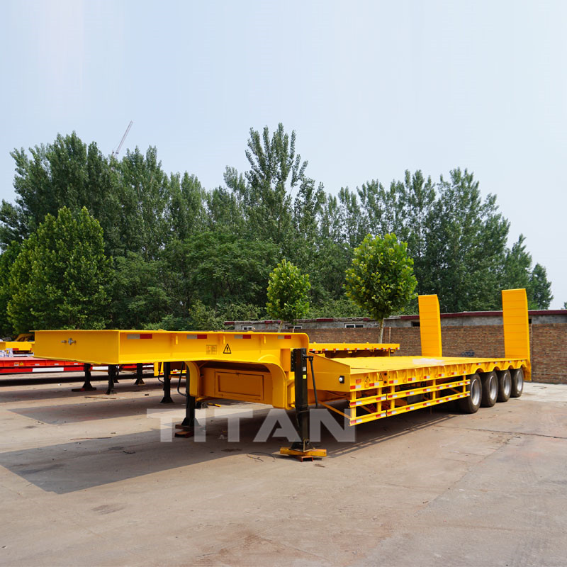 150 Ton Extendable Low Bed Trailer with Dolly