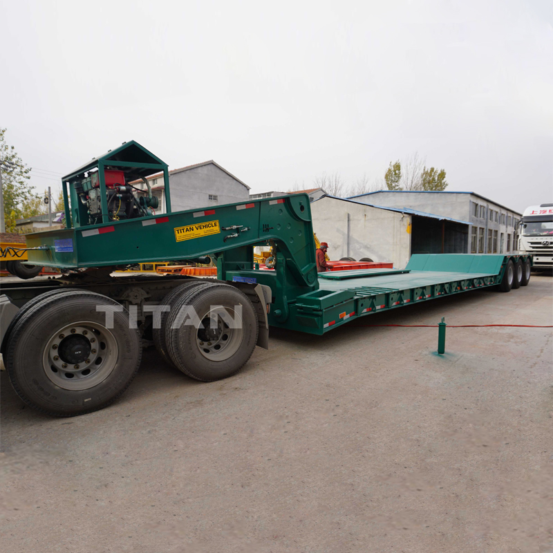 TITAN 80 Ton Front Loading Lowbed Trailer | Front Loading Low Bed Trailer