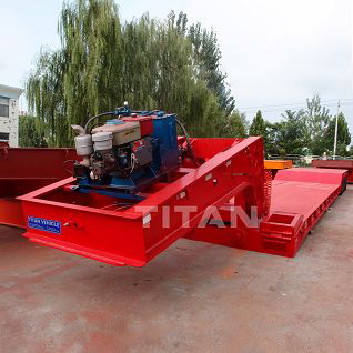 120 ton 4 axle Bulldozer Transport Lowboy Trailer