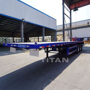 40ft 60 tons flat bed semi trailer