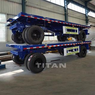 20ft flatbed drawbar container trailer
