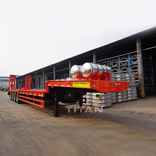 4 axle 120 ton low bed trailers