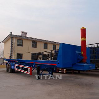 2 axle tipping container trailer