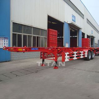 2 axle 40 foot skeleton container trailer