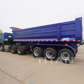 30cbm U Shape Dump Semi Trailer