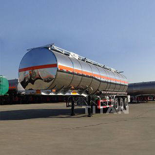 Stainless steel tanker trailer